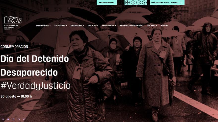Web del Museo de la Memoria y los Derechos Humanos en Santiago (Chile).