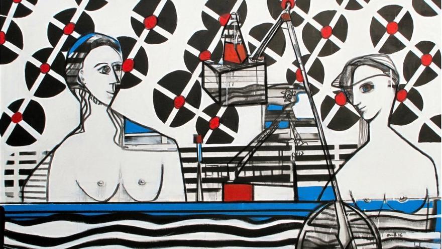 Obra del pintor santanderino Roberto Orallo. | LA ORTIGA COLECTIVA