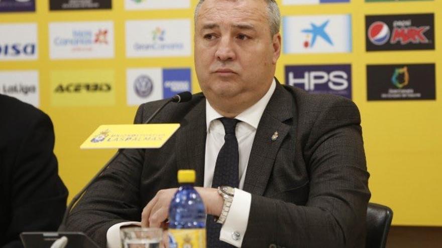 Miguel Ángel Ramírez, presidente de la Unión Deportiva Las Palmas