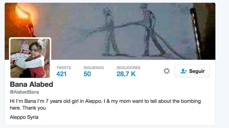 La cuenta de Twitter desde la que una niña cuenta el día a día de la guerra en Siria.