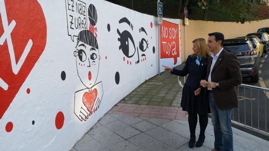 Diputación vizcaína repartirá 17.000 carteles y 127.000 pegatinas para impulsar la campaña contra la violencia machista