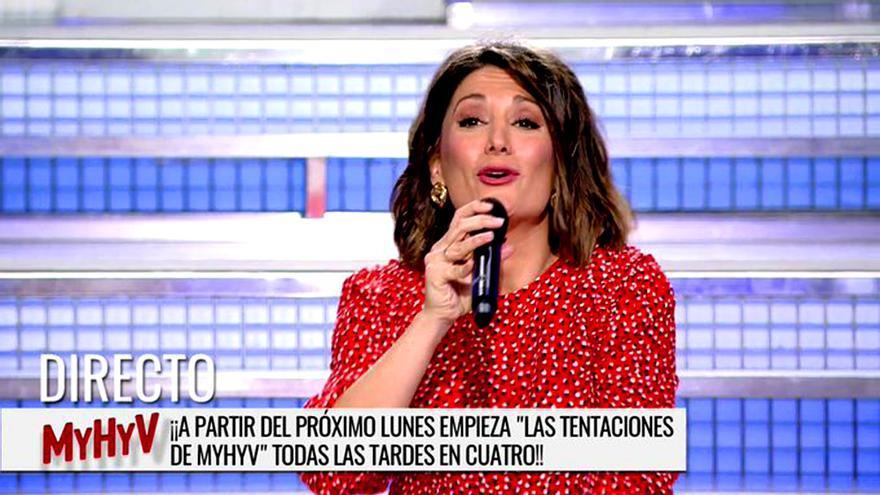 Nagore Robles lo anuncia en el plató de 'Mujeres y hombres y viceversa'