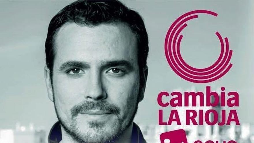 """Garzón (IU) ve a al PP riojano """"tan aterrorizado"""" que lleva en campaña a Aznar"""