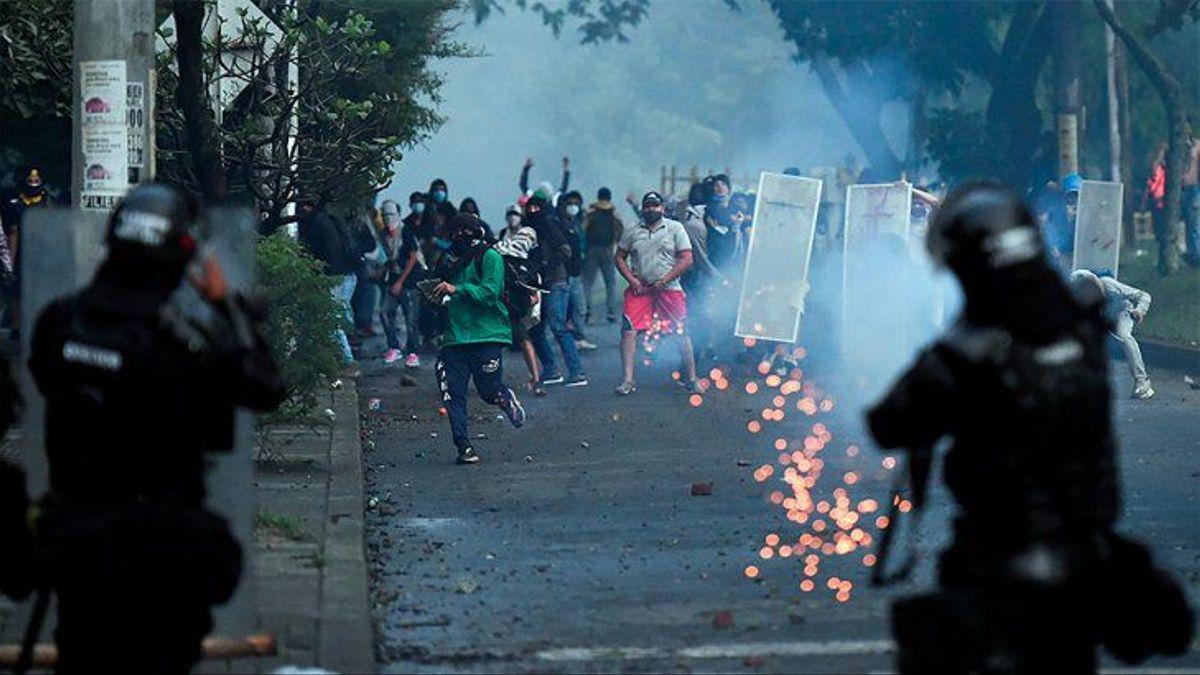 Protestas e incidentes en Colombia.