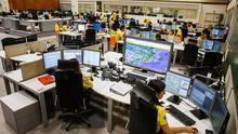 Imagen de un centro de recepción de llamadas del 061.