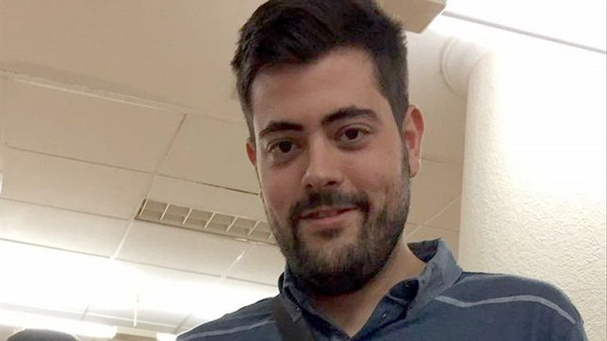 El secretario general de Joves Socialistes d'Elx, Alejandro Díaz Chaves