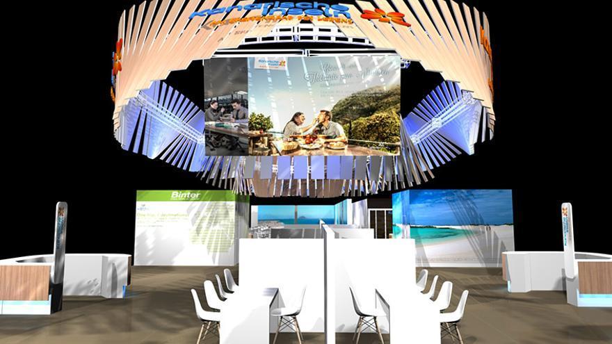 Pabellón de Canarias en la próxima edición de la ITB de Berlín.