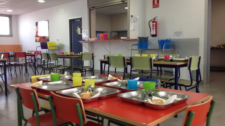 En la imagen, comedor escolar del CEIP Mariela Cáceres Pérez de Los Llanos de Aridane.