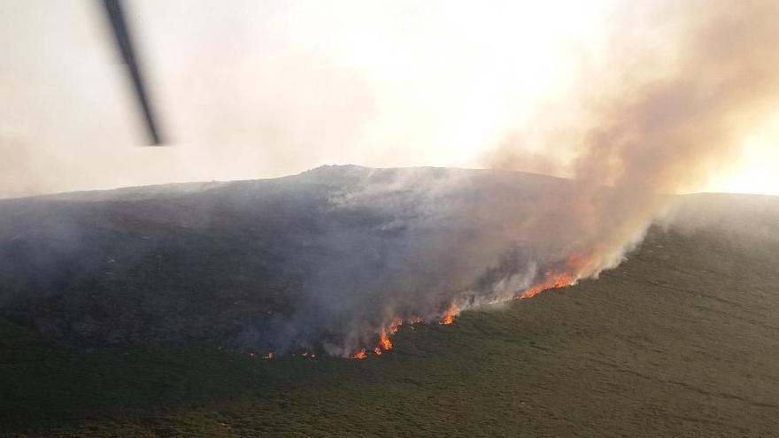 Incendio en Gredos