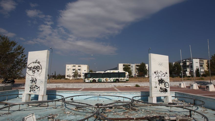 Fuente olímpica contruida para los JJOO de Atenas 2004