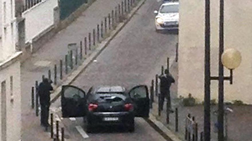Terroristas de ISIS en el ataque al semanario Charlie Hebdó, en enero del 2015