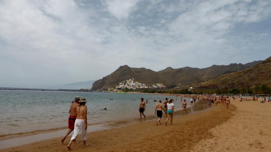 Vista de la playa de Las Teresitas, en Santa Cruz de Tenerife