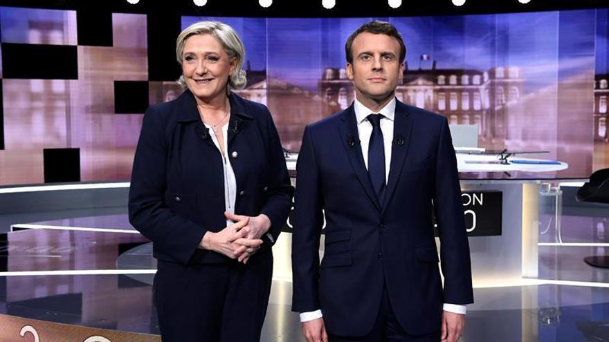 Bronco debate entre Macron y Le Pen a tres días de segunda vuelta en Francia
