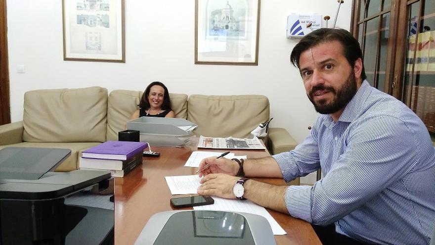 Elisa y Alberto, en el servicio de letrados de guardia de los juzgados de Sevilla