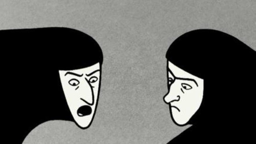 Escena de `Persépolis´, cómic de Marjane Satrapi