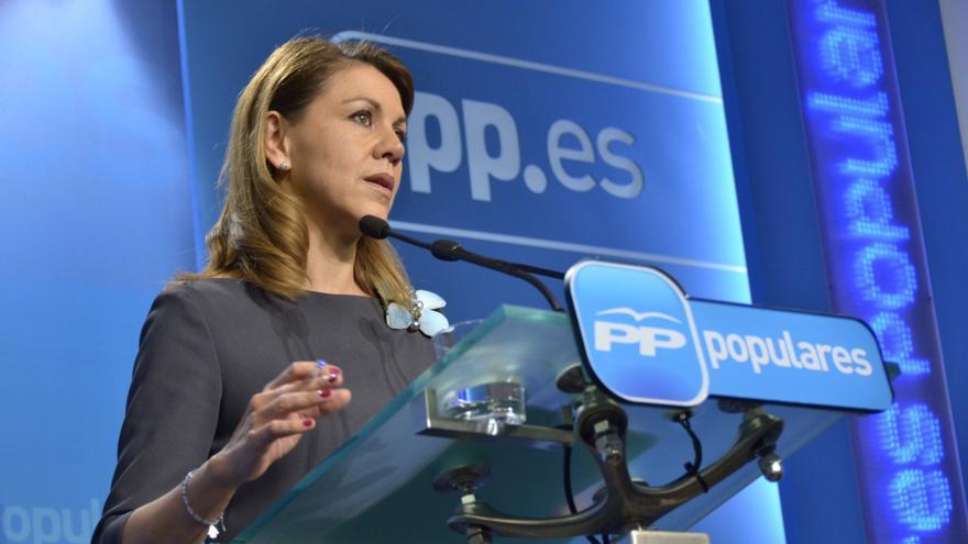 """Cospedal recalca, ante las nuevas informaciones sobre Bárcenas, que """"la contabilidad del PP es una"""""""