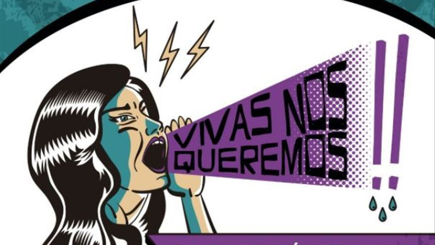 Cartel de la concentración #19JAlertaFeminista en Ciudad Real