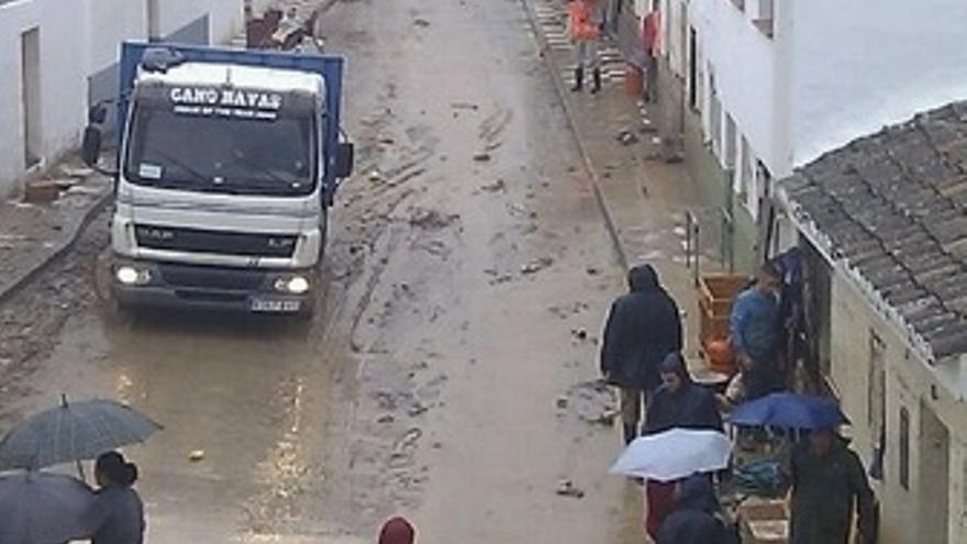 Zona afectada por las inundaciones en Málaga