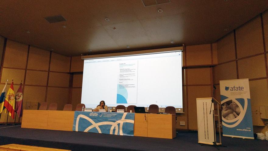 María Reyes Henríquez, directora general de Políticas Sociales del Gobierno de Canarias, en la ULL este lunes