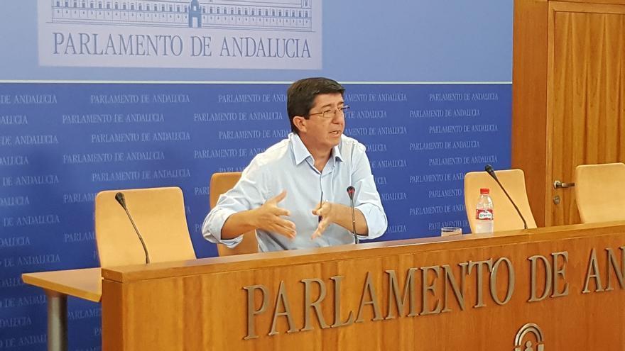"""Marín (C's) insiste que no pueden llegar a acuerdos con Podemos porque tienen modelos """"muy antagónicos"""""""
