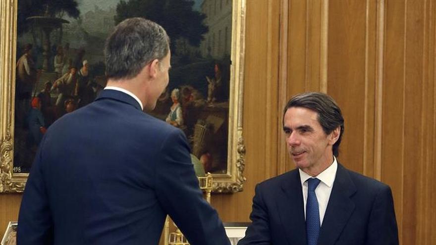 El Rey recibe en Zarzuela a Aznar en una audiencia con el Instituto Atlántico