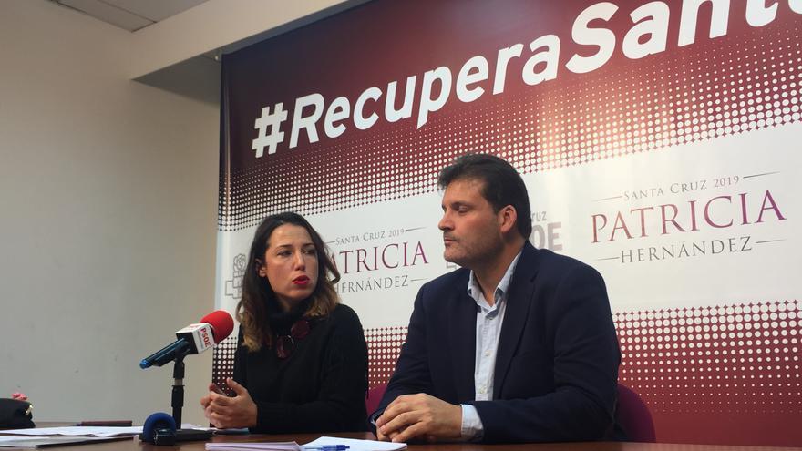 Patricia Hernández, candidata del PSOE a la alcaldía de Santa Cruz, y José Ángel Martín, actual portavoz en la capital tinerfeña