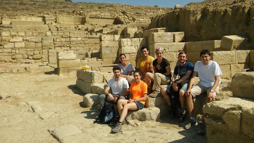 Estudiantes de la Universidad de Navarra realizan importantes hallazgos en Los Bañales de Uncastillo