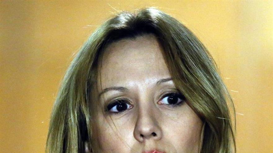 La consejera de Hacienda de Canarias, Rosa Dávila, hace declaraciones al término de la reunión del Consejo de Política Fiscal y Financiera.