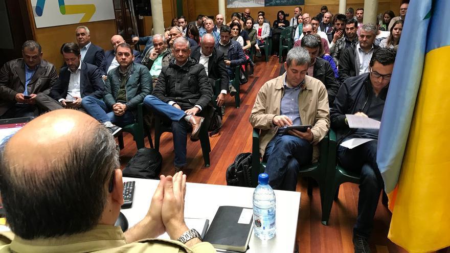 Reunión del Consejo Político Nacional de Coalición Canaria-Partido Nacionalista celebrado  este sábado en Las Palmas de Gran Canaria.