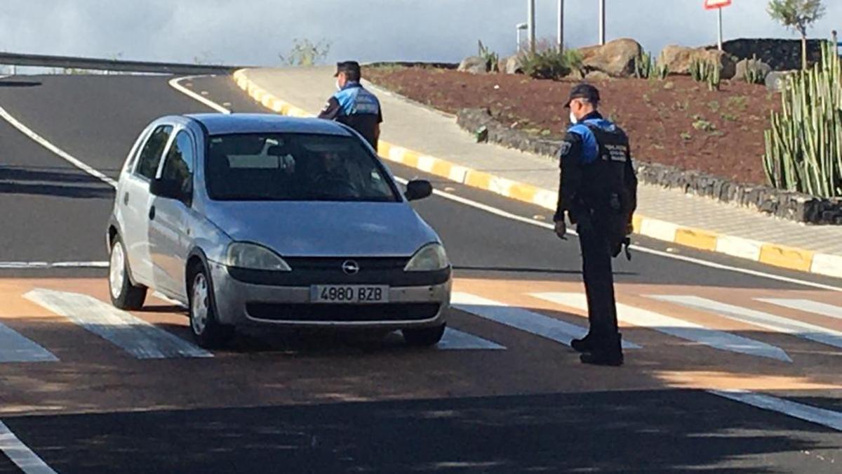 Control de la Policía Local de Candelaria