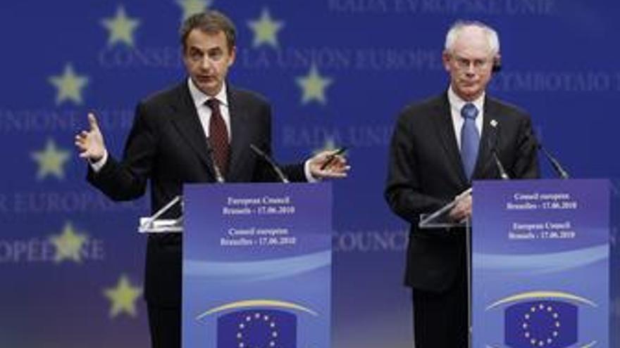 Zapatero y Van Rompuy en Bruselas