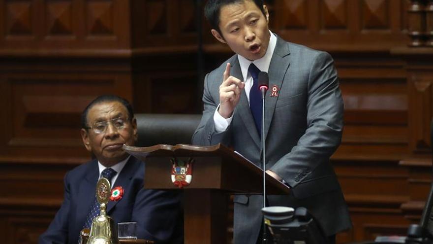 El grupo parlamentario fujimorista suspende por 60 días a Kenji Fujimori