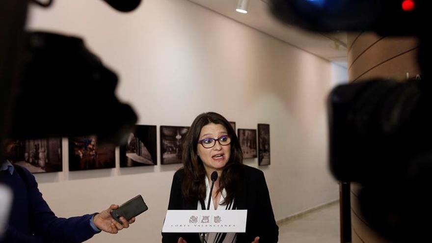 """Oltra pide """"serenidad"""" para ver la candidatura valenciana conjunta al Senado"""