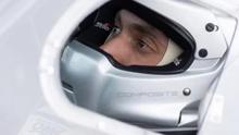 Imagen de archivo de un piloto de carrera.