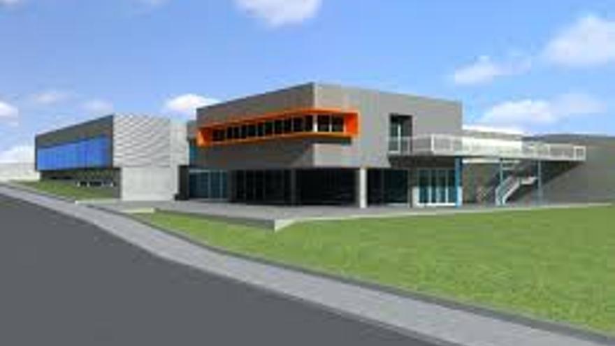 En la imagen, maqueta del Centro Integrado de Formación Profesional de Los Llanos.