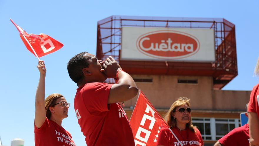 Protesta de trabajadores de Cuétara. FOTO: @frlorente / CCOO Madrid