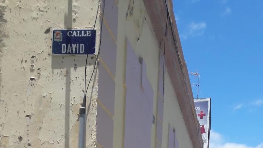 Actual calle David, en el cruce de San Lorenzo, que el Foro Canario de Víctimas del Franquismo pide que se renombre en homenaje al niño Braulio.