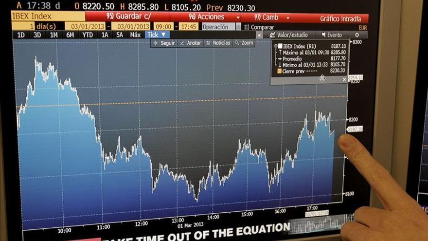 El IBEX sube un 0,96 por ciento en línea con el tono positivo de las bolsas europeas