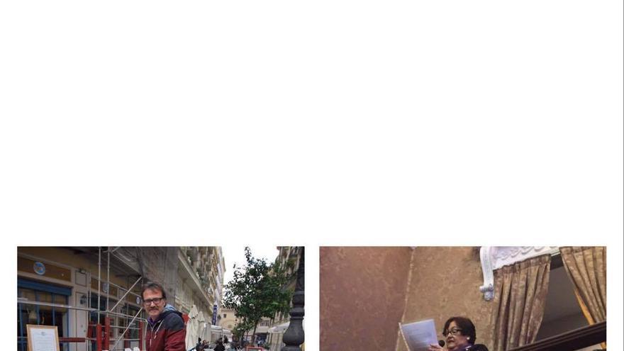 El edil de Movilidad, Giuseppe Grezzi, y la presidenta de la Federación de Vecinos, María José Broseta