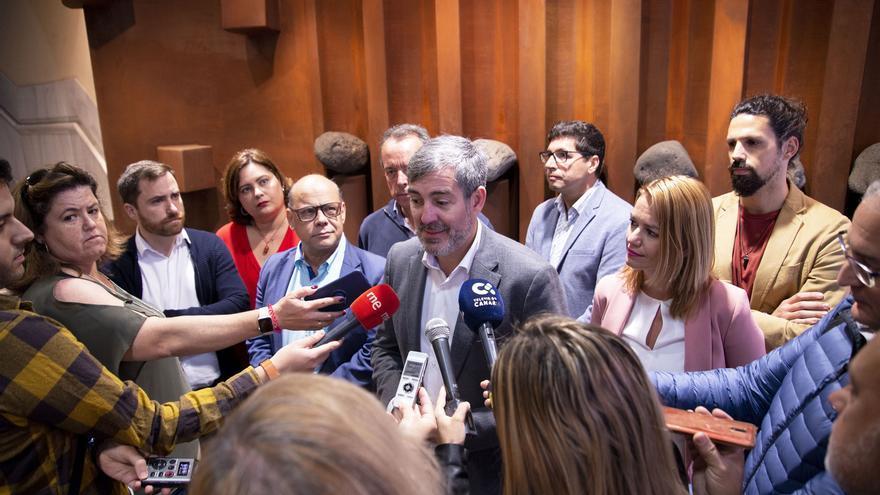 Declaraciones de Clavijo a los medios tras la presentación de la lista autonómica de CC.