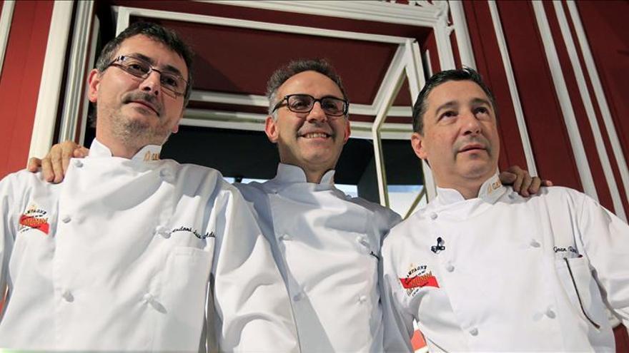 Joan Roca, Andoni Aduriz y Massimo Bottura cocinan sus platos históricos