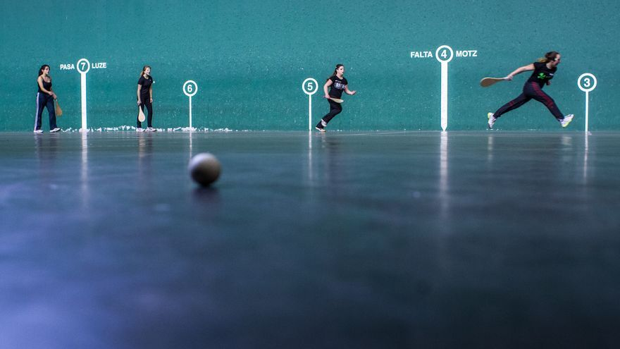 Un plano del documental 'Las pelotaris' / Foto: Daniel Burgui.