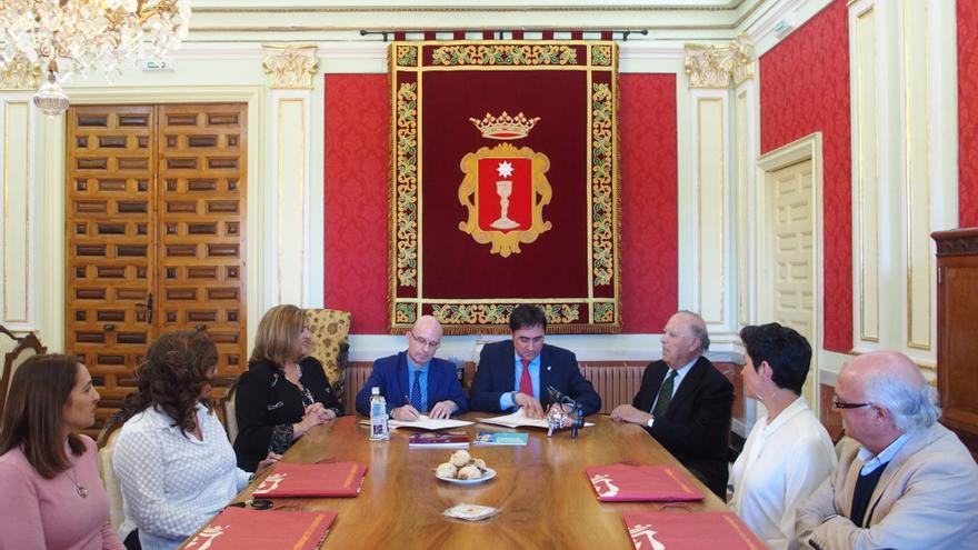 Acto de firma del convenio