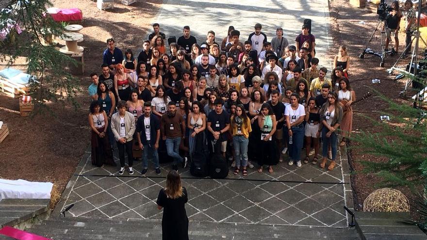 La foto de los 87 aspirantes a entrar en OT 2018 en el cásting final del programa