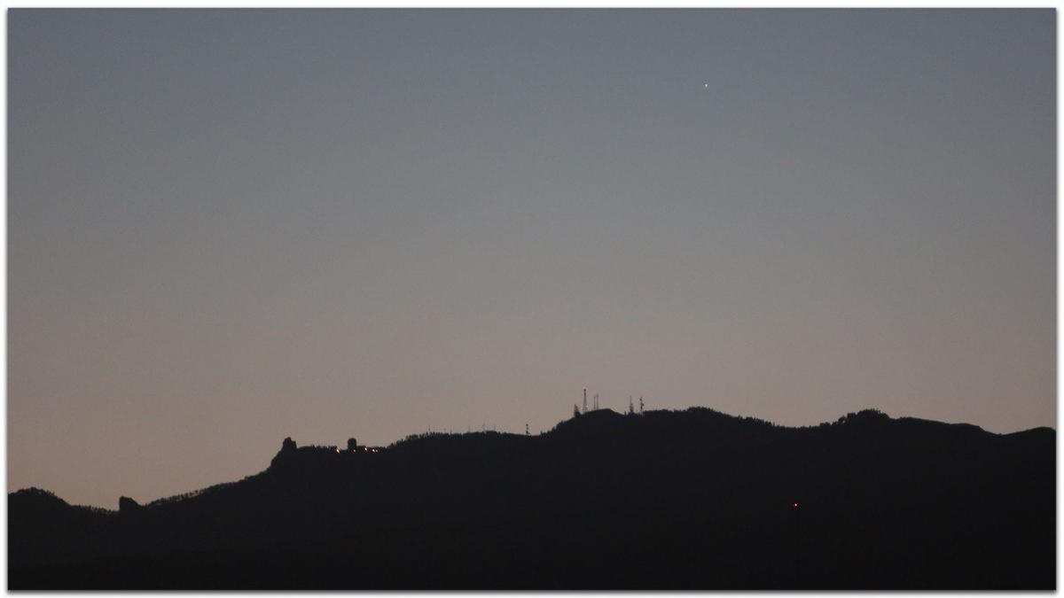 La Estación Espacial Internacional vista desde el sureste de Gran Canaria a las 21.28 horas del pasado domingo.