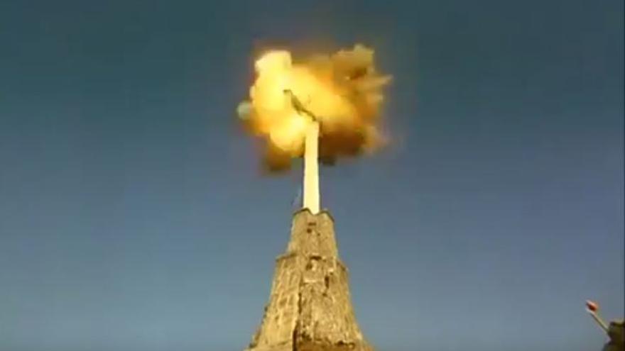 Explosión cruz del Valle de los Caídos