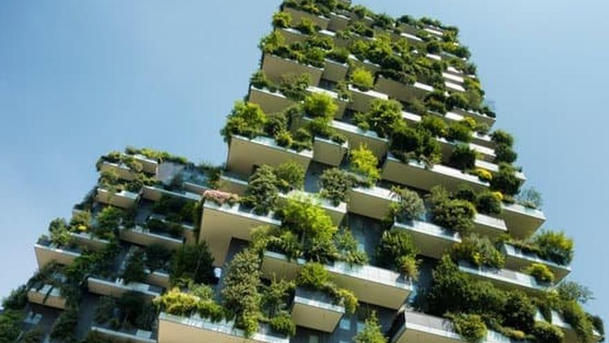 Imagen de recurso de un edificio eficiente energéticamente