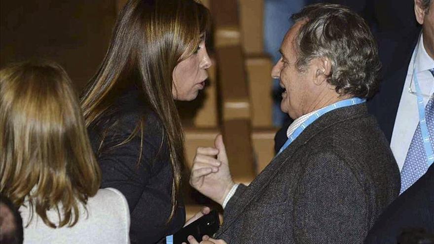 El marido de Cospedal, situado en lugar preeminente junto a dirigentes del PP