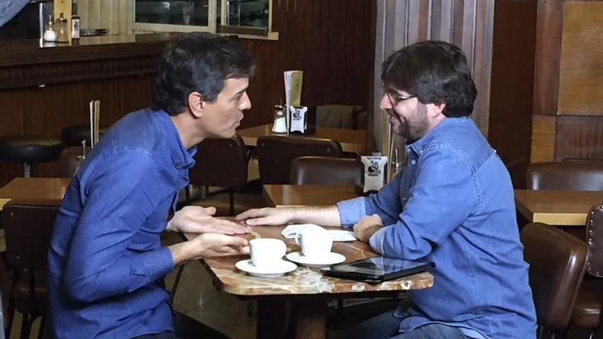Pedro Sánchez junto a Jordi Évole durante la entrevista en Salvados (La Sexta).