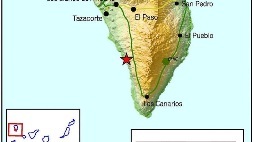Registro del terremoto leve en la costa de Los Llanos. Imagen: INSTITUTO GEOGRÁFICO NACIONAL